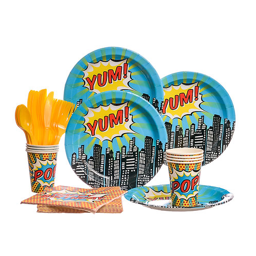 Ginger Ray Pop Art Superhero Party Set