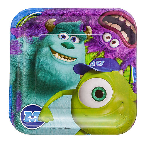 Monsters University Luncheon Paper Plates