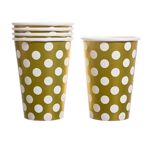 Gold Polka Dots Paper Cups