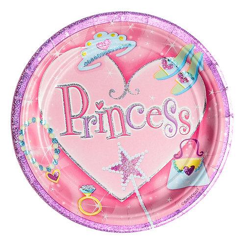 Pink Princesses Plates
