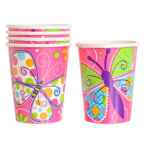Butterfly Sparkle Paper Cups