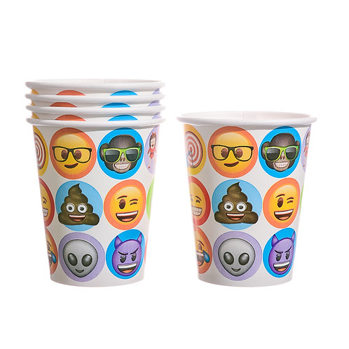 Emoji 9oz Paper Cups (8 Count)