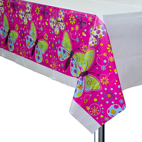 Butterfly Sparkle Plastic Table Cover