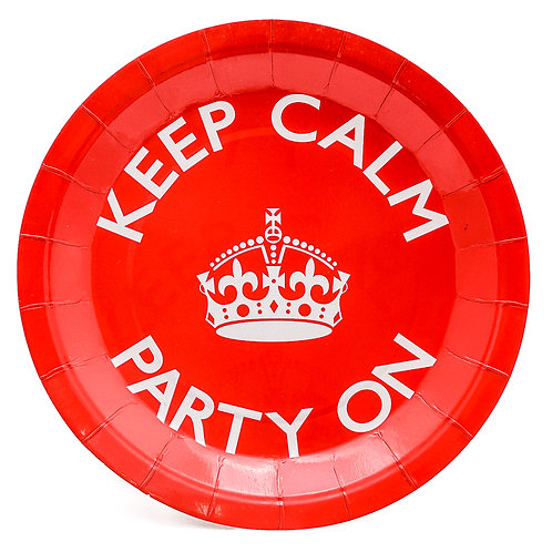 Keep Calm Party Paper Plates
