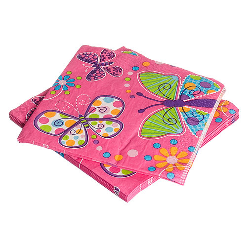 Butterfly Sparkle Beverage Napkins