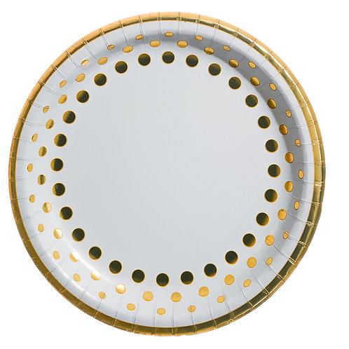 Gold Polka Dots Paper Plates