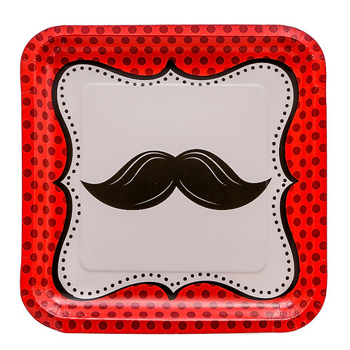 Mustache Madness Paper Plate