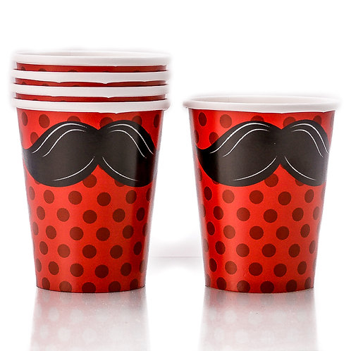 Mustache Madness Paper Cups