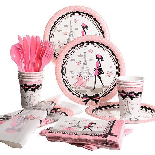 Pink Paris Basic Party Set
