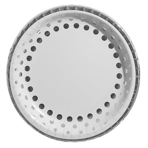 Silver Polka Dots Plates