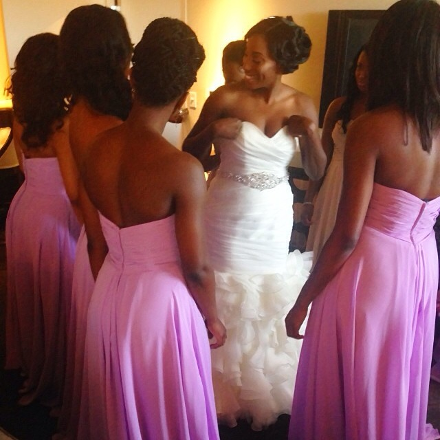 Congratulations!! 👑 _flyyfancy #weddinghair #bridalparty #weddingday #bridalhair #vanityloungehair