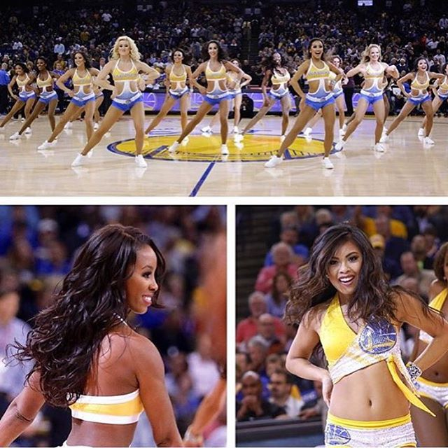 #glamsquad #goldenstatewarriorsdanceteam #vanityloungehair #bayareahair #basketball #cheerleaders #v