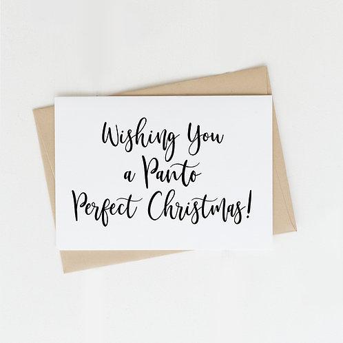 Panto Perfect Christmas, Greeting Card