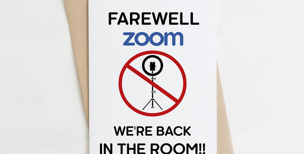 Farewell Zoom, Greeting Card