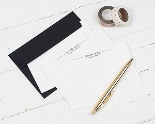 London Paperie Bespoke Correspondence Cards. Shop Stationery