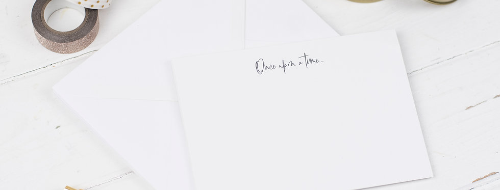 Once upon a Time Notecards, Pack of 6