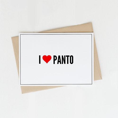 I Heart Panto, Greeting Card