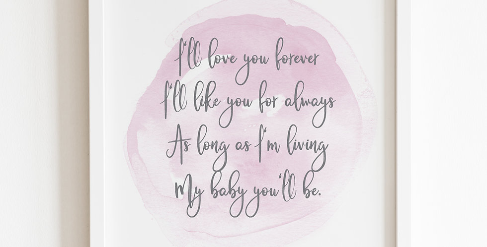 I'll Love You Forever, Print