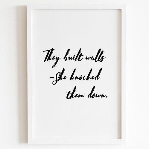 They Built Walls, Print