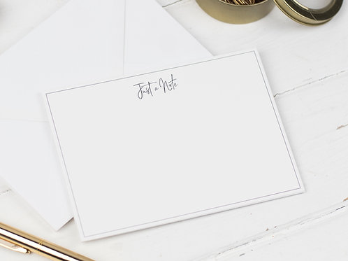 Just a Note Notecards, Pack of 8