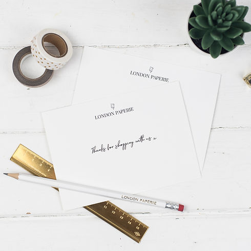 London Paperie Compliment Cards. Thanks for shopping with Us.