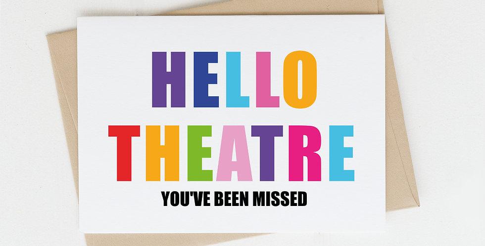 Hello Theatre, Greeting Card