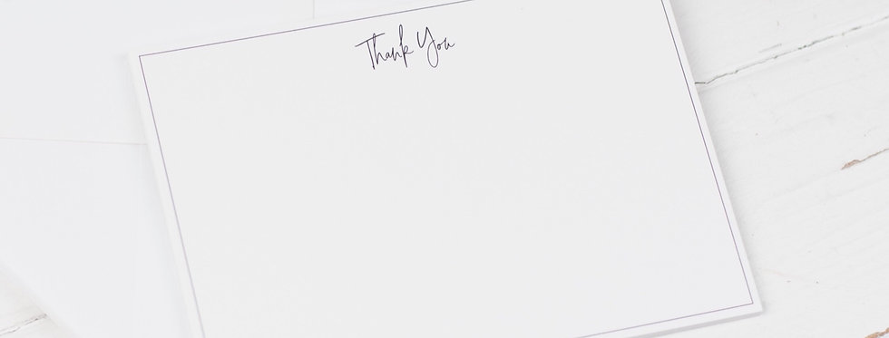 Thank you Notecards, Pack of 8