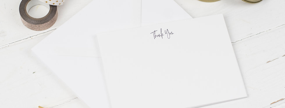 Thank you Notecards, Pack of 6