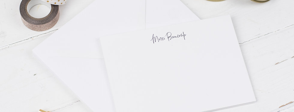 Merci Beaucoup Notecards, Pack of 6