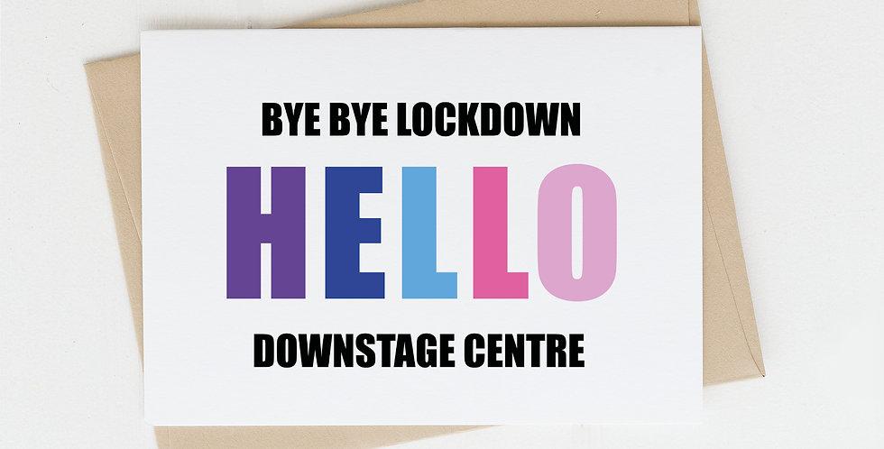 Bye Bye Lockdown, Greeting Card