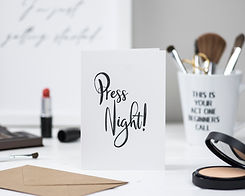 London Paperie press night theatre greeting card