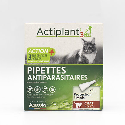 Pipette Antiparasitaire Chat> 5g