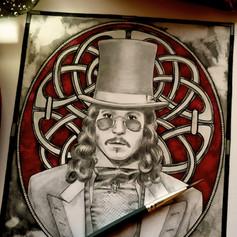 Dracula Gothic Celtic Knotwork Fan Art Print