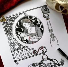 Frigg Norse Viking Goddess Art Print