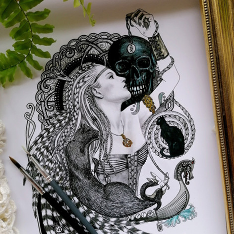 Freyja Norse Viking Goddess Art Print