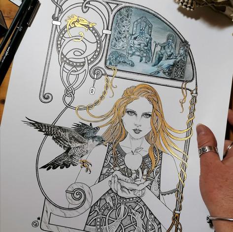 Idun Norse Viking Goddess Art Print