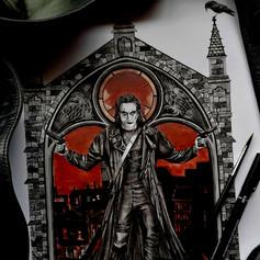 The Crow Gothic Fan Art Print www.redfoxillustrations.co.uk