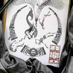 Ran Norse Viking Mermaid Art Print