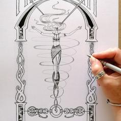 Niflheimr Hel Norse Viking Goddess Art Print