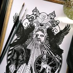 Odin Norse Viking God Art Print