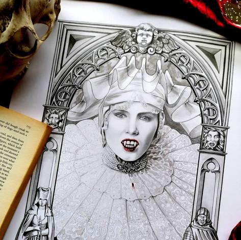 Westenra 1897 Dracula Gothic Fan Art Print