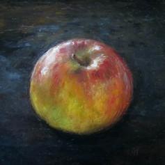 Thursday's Apple Finger Painting