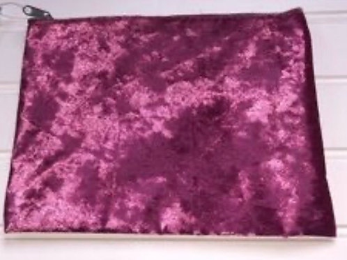 Camfident Cosmetic Crushed Velvet Zip Bag