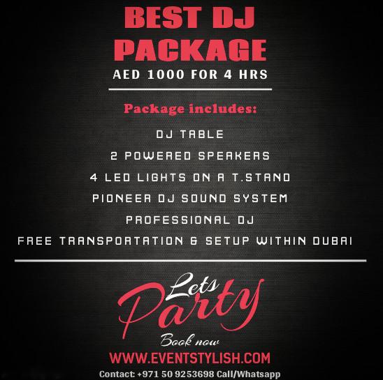 Best DJ offer in dubai uae