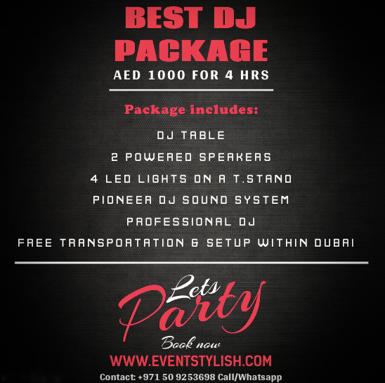 Best DJ Package for your Events