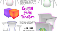 COCKTAIL FURNITURE RENTAL PACKAGE
