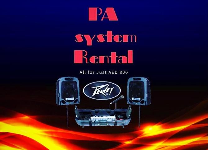 PA SYSTEM RENTAL