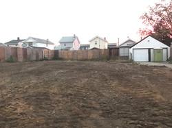 Graded lot after demolition