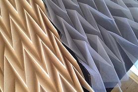 Handplissee mit Papierschablone