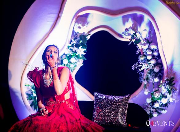 Ravina enjoying her Sangeet